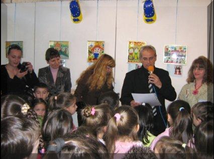 Благотворителна изложба рисунки - ОМЕП Сливен