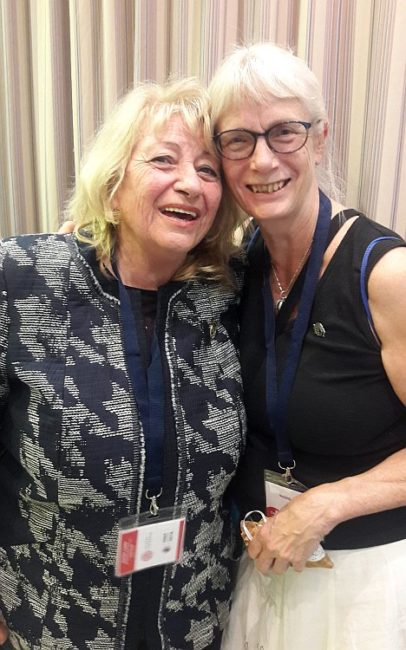 Prof. Elena Roussinova and Assoc. Prof. Ingrid Engdahl (Regional Vice President for Europe)