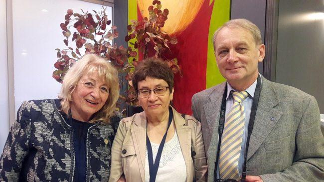 Prof. Elena Roussinova, Prof. Natalia Ryzhova and Prof. Boris Ryzhov (OMEP, Russia)