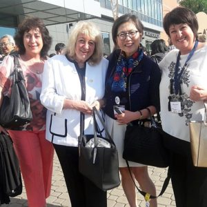 Prof. Elena Roussinova and Dr. Maggie Koong with Bulgarian members of OMEP