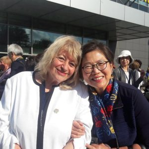 Prof. Elena Roussinova and Dr. Maggie Koong (former World President of OMEP)