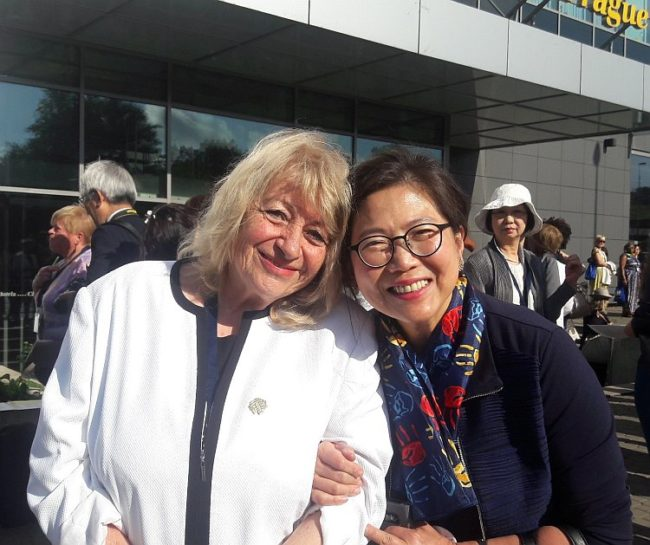 Prof. Elena Roussinova and Dr. Maggie Koong (former World President of OMEP)
