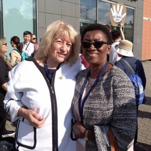 Prof. Elena Roussinova and Mrs Nyamikeh Kyiamah (Regional Vice President for Africa)