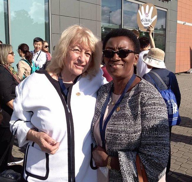 Prof. Elena Roussinova and Mrs Nyamikeh Kyiamah (Regional Vice President for Africa)