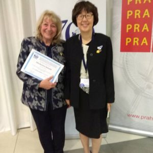 Prof. Elena Roussinova and Prof. Eunhye Park, PhD (World President of OMEP)