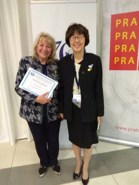 Prof. Elena Roussinova and Prof. Eunhye Park, PhD (World President of OMEP)