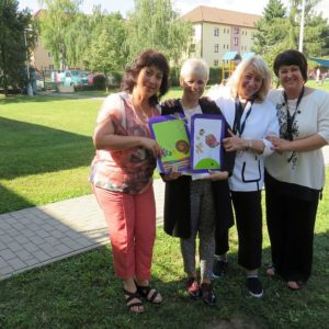 Проф. Русинова с колеги на посещение в чешка детска градина- 02