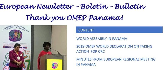 2019-7 OMEP-European Newsletter