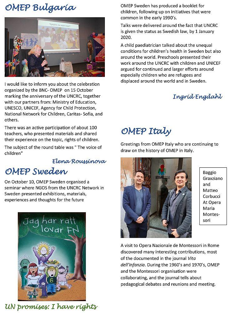 OMEP 2019-European Newsletter